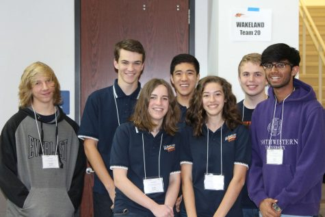 The Octathlon team consisted of seven students with everyone being new to the Academic Decathlon circuit except one, sophomore Kevin Tuttle. Front Row left to right: Reece Walter, 10, Ilisa Norman, 10, Rohit Bolla, 10 Second Row left to right: Chandler Joyner, 9, Kean Chastain-Howley, 9, Oliver Shi 9, Kevin Tuttle, 10