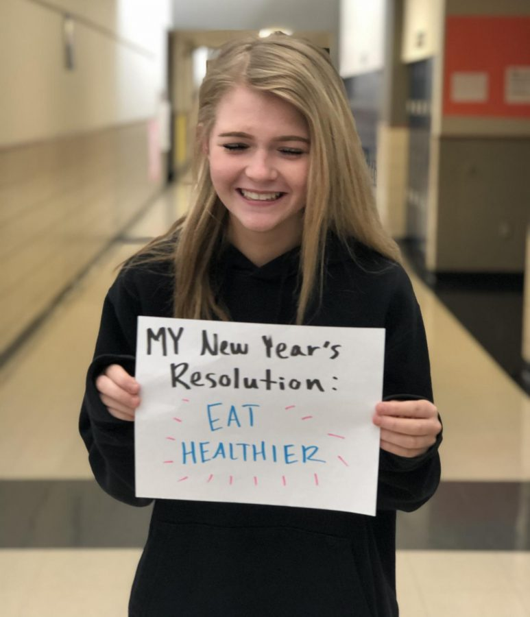 Happy, Healthy New Year - Students make New Year's resolutions to improve themselves. They make them, and break them, sometimes before the end of January. Making a New Year's resolution is a small step but crucial to learn goal setting.