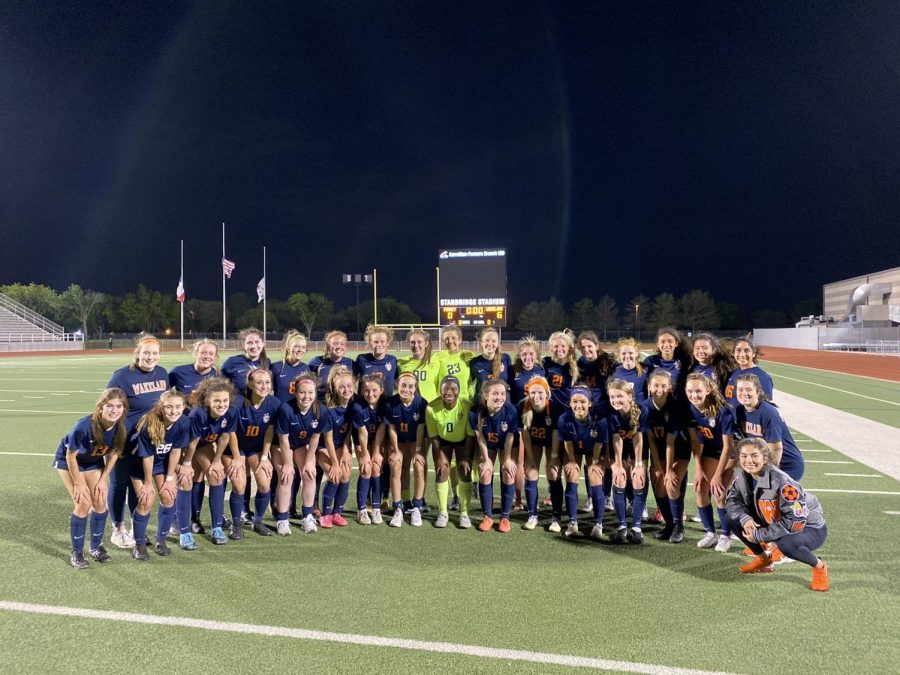 Making their way to regionals - Wakeland Varsity girls are crowned as Semifinal Champions after defeating Forney High School.